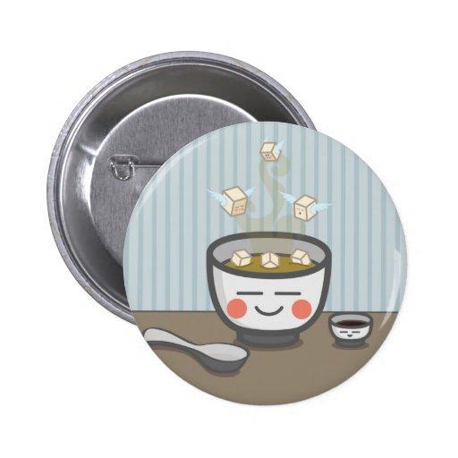 botón de los ángeles del queso de soja pins