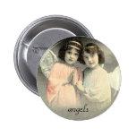 Botón de los ángeles del vintage pins
