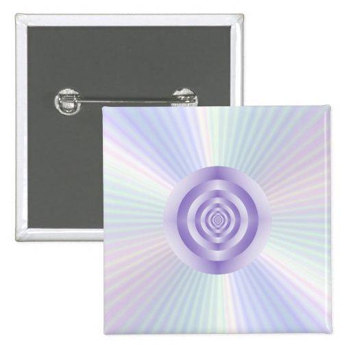 botón de los anillos concéntricos de la Estrella-e Pins