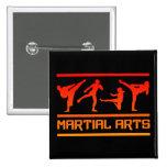 Botón de los artes marciales pin