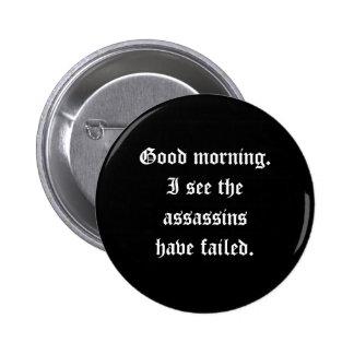 Botón de los asesinos pin redondo de 2 pulgadas