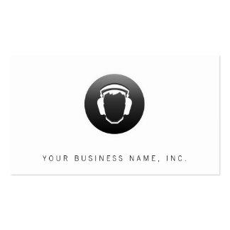 Botón de los auriculares tarjetas de visita