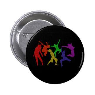 Botón de los bailarines pin redondo de 2 pulgadas