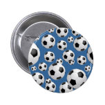 Botón de los balones de fútbol del fútbol