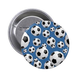 Botón de los balones de fútbol del fútbol pin redondo de 2 pulgadas