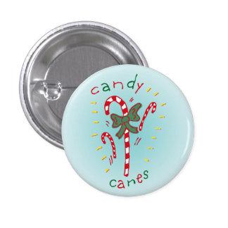 Botón de los bastones de caramelo pin