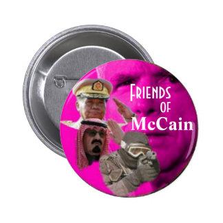 Botón de los cabilderos de McCain Pin Redondo De 2 Pulgadas