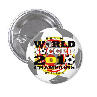 Botón de los campeones del mundial 2010 de España Pin Redondo De 1 Pulgada