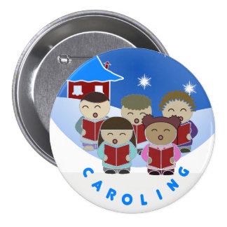 Botón de los Carolers del navidad
