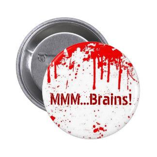 … Botón de los cerebros MMM Pin Redondo De 2 Pulgadas