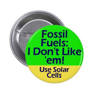 botón de los combustibles fósiles pin