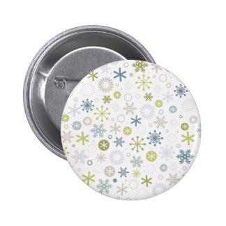 Botón de los copos de nieve de la MOD Pins