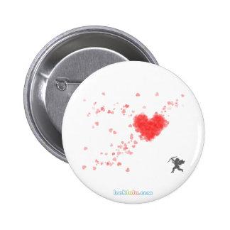 Botón de los corazones del Cupid Pin