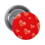 Botón de los corazones pin