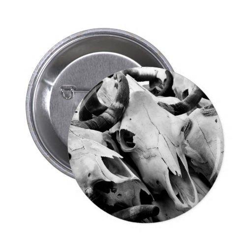 Botón de los cráneos de la vaca pin