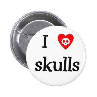 Botón de los cráneos del corazón I