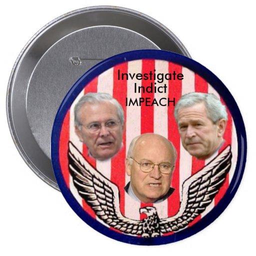 Botón de los criminales de guerra (2da versión) pin
