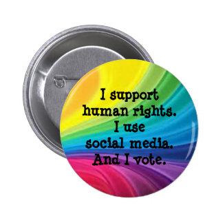 Botón de los derechos humanos de la ayuda pin redondo de 2 pulgadas