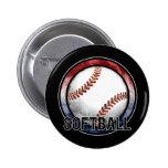Botón de los E.E.U.U. del emblema del softball Pin