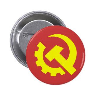 Botón de los E.E.U.U. del Partido Comunista Pin Redondo De 2 Pulgadas