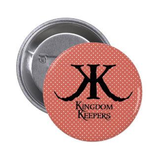 Botón de los encargados del reino del logotipo de pins