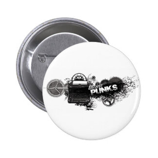 Botón de los escritores del engranaje chapa redonda 5 cm