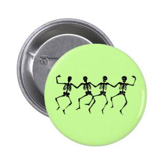 Botón de los esqueletos del baile pin