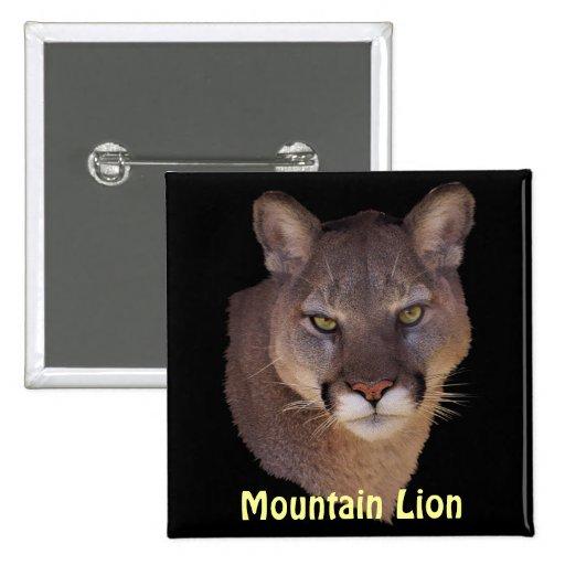 Botón de los Fauna-amantes del puma del león de mo