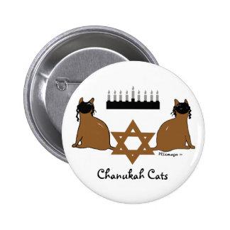 Botón de los gatos de Chanukah Pins