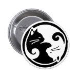 Botón de los gatos de Yin Yang Pin Redondo De 2 Pulgadas