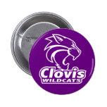 Botón de los gatos monteses de Clovis Pins