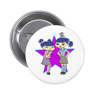 Botón de los géminis pin