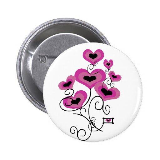 Botón de los globos de las tarjetas del día de San