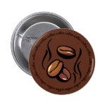 Botón de los granos de café pins