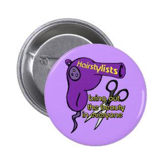 Botón de los Hairstylists Pin