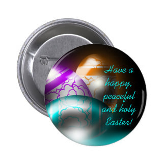 Botón de los huevos de Pascua que brilla intensame Pin
