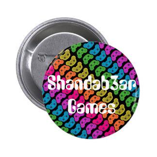Botón de los juegos de Shandab3ar Pin Redondo De 2 Pulgadas