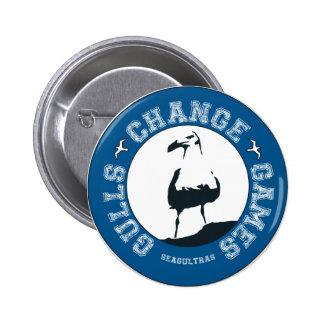 Botón de los juegos del cambio de las gaviotas pin redondo de 2 pulgadas