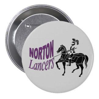 Botón de los lanceros de Norton Pins