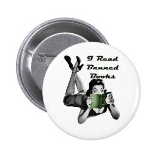 Botón de los libros prohibidos pin redondo de 2 pulgadas