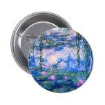Botón de los lirios de agua de Monet Pin
