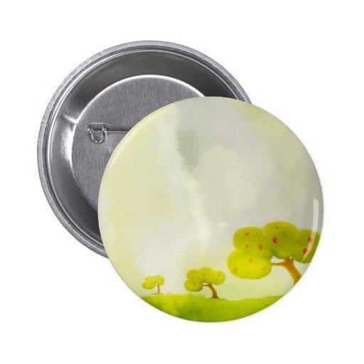 botón de los manzanos del dibujo animado pin redondo de 2 pulgadas