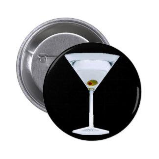 Botón de los martinis pin redondo de 2 pulgadas