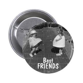 Botón de los mejores amigos pin