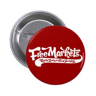 Botón de los mercados libres pins