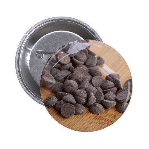 Botón de los microprocesadores de chocolate pin redondo de 2 pulgadas