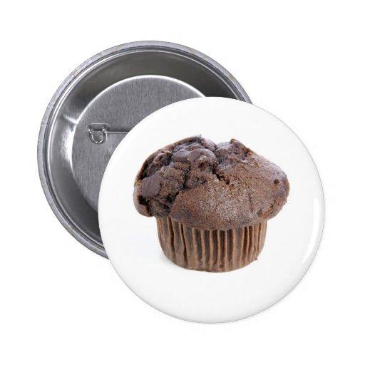 Botón de los molletes del chocolate pins