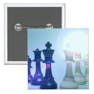 Botón de los movimientos de ajedrez pins