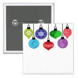Botón de los ornamentos del navidad pin