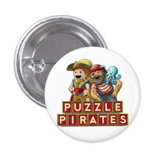 Botón de los Pals del pirata Pin Redondo De 1 Pulgada